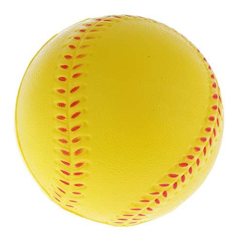 MagiDeal Baseball Training Ball Baseballball Softball Gelb - 6,3 cm