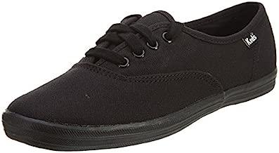 Keds Women's Champion Original Canvas Lace-Up Sneaker, Black/Black, 11 M US
