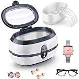 Ultrasonic Cleaner,Ultrasonic Jewellery Cleaner,Sonic jewellery cleaner machine 600ml&750ml Ultra Sonic Bath with Cleaning Basket for Jewelry Pendant Glasses Watch Metal Coins Dentures Razor Rings