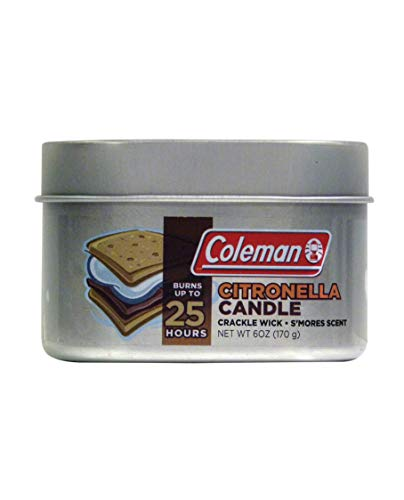 Coleman S'Mores Citronella Candle with Wooden Crackle Wick - 6 oz