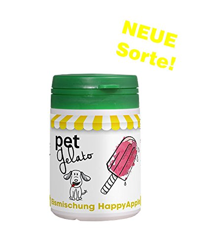 petGelato Eismischung - in der Sorte: HappyApple mit Molke - 44g - Hundeeis/Katzeneis/Pferdeeis