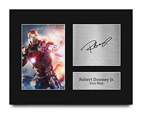 HWC Trading Robert Downey Jr Signed US Letter Size Printed Autograph Iron Man The Avengers Print Photo Picture Display - Great Gift Idea