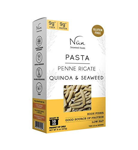 Nun Pasta Pack – Seaweed Pasta – 8 oz – Gluten Free Pasta Variety Pack – Sustainably Made Pasta with Chilean Seaweed (Quinoa) (Penne Rigate) (Pack of 3)