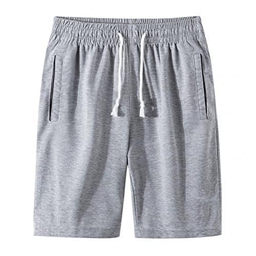 N\P - Pantaloni sportivi da uomo estivi da jogging da uomo, con coulisse, grigio, L