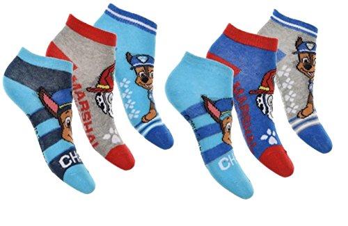 Calcetines infantiles de la Patrulla Canina de algodón para comodidad y fantasía – Varios modelos de fotos según disponibilidad. Pack de 9 calcetines Talla única