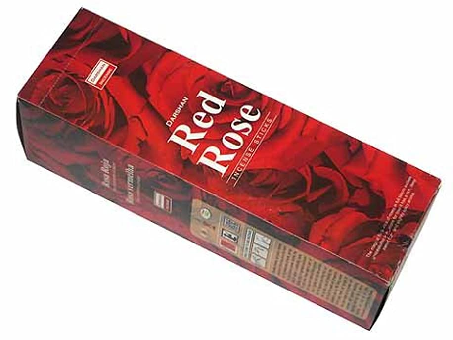 断線繊維フルーティーDARSHAN(ダルシャン) レッドローズ香 スクエアパック スティック RED ROSE 25箱セット