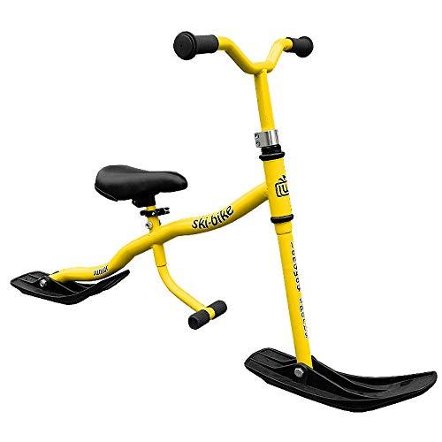 TE-Sports Kinder Roller Ski Snow Scooter Kick Board Bike Sattel Fußrasten Stahl Gelb bis 40kg belastbar SGS geprüft