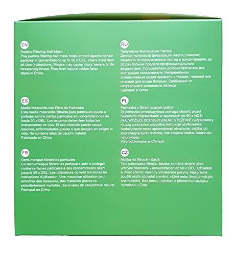 6X FFP3 Atemschutzmaske 99% Filter DreamCan Halbmaske Staubmaske Atemmaske Schutzmaske mit Ventil - 8