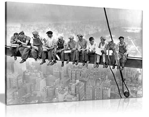 Lienzo decorativo para pared, diseño de rascacielos de Nueva York (24 x 16)