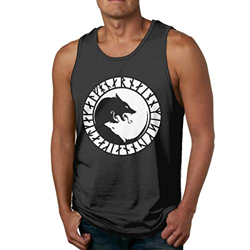 HJYR Odin's Wolves Mens Casual Sports Camiseta sin Mangas