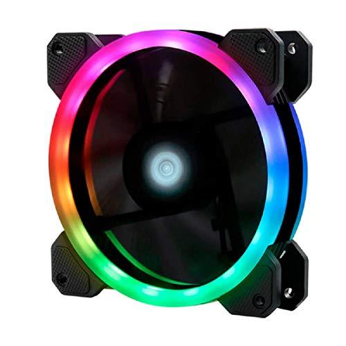 Game Factor Ventilador RGB Fg400 120mm 50cfm Negro Requiere el Controlador FKG400