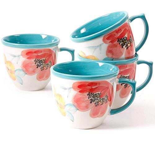 The Pioneer Women Flea Market Decorated Coffee Cup,