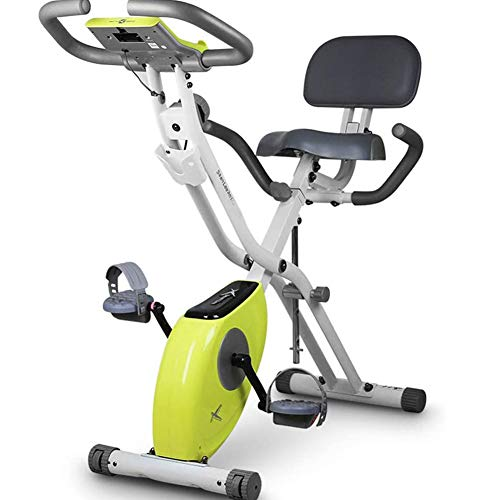 NNshoes Bicicleta estática plegable F-Bike/bicicleta de entrenamiento con 8 niveles de resistencia, sensores de pulso