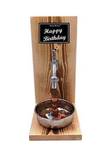 Happy Birthday - Eiserne Reserve - Geldhahn - Geldgeschenk - Geld verschenken - lustiges witziges Geburtstag Geschenk, Geschenkidee für Mann und Frau , Geschenke zum Geburtstag
