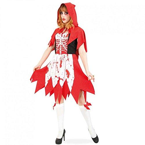 Fritz Fries & Söhne GmbH & Co Zombie Rotkäppchen Gr. 38 Kleid mit Kapuze Halloween Kostüm blutbeschmiert