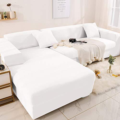 WXQY La Funda de sofá Impresa se estira elásticamente, es Necesario Pedir 2 Piezas de sofá en Forma de L. Funda para sofá de salón A6 2 plazas