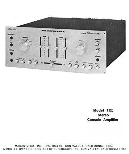 Marantz 1120 Amplifier Owners Instruction Manual Reprint [Plastic Comb]
