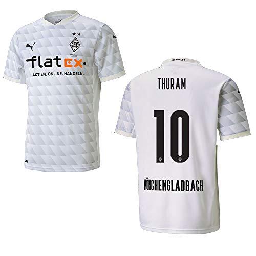 BMG Borussia MÖNCHENGLADBACH Trikot Home Herren 2021, Größe:XL, Spielerflock (zzgl. 10.00EUR):10 Thuram
