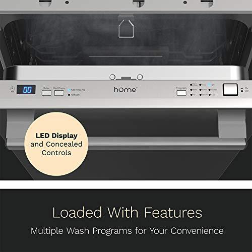 HomeLabs HME030286N 18-Inch Built-in Dishwasher