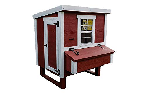 OverEZ Medium Chicken Coop for Up to 10 Chickens - Nesting Box - Large Bird, Poultry and Hen House Made from Wood. Made in USA
