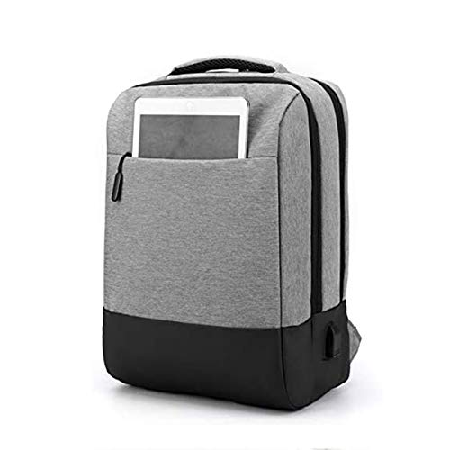 Rucksack M?nner USB Aufladen Wasserdicht, Nuovo Laptop Zaino USB Zaino School Bag Anti Theft Men Zaino da viaggio Daypacks Maschio Zaino per il Tempo Libero,Grau
