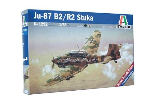 Italeri 1292 - Ju-87 B2 Stuka modellismo aerei Model Kit Scala 1:72
