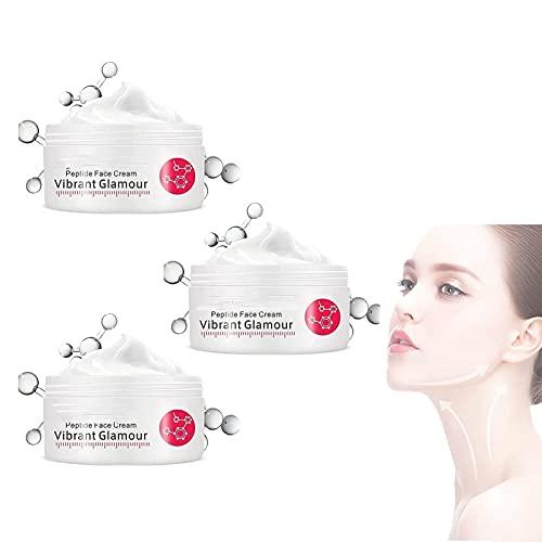 XFSSFWB Crema reafirmante Crema Cara de colágeno Reduce líneas secas Glamour Vibrante (Size : 3pcs)