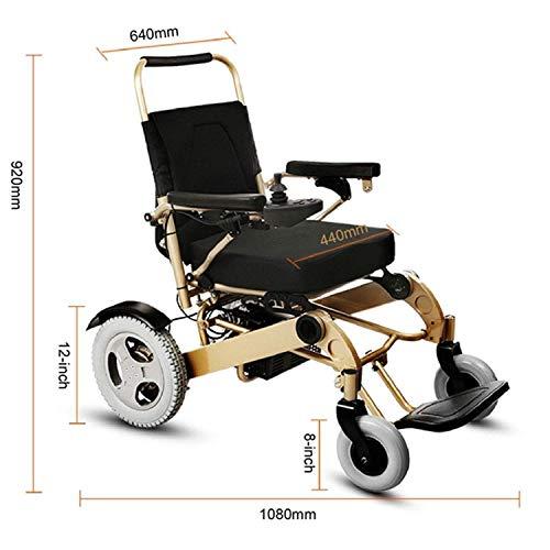 GODLOVEYOU rolstoel, elektrisch, volledig automatisch, inklapbaar, voor binnen en buiten, met joystick 360 °, handmatige schakeling, voor gehandicapten.