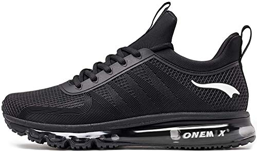 ONEMIX Herren Sportschuhe Laufschuhe Fitness Running Walkingschuhe Straßenlaufschuhe Outdoor Black 44