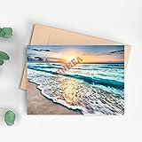 Tarjetas de felicitación de Cancun México Seaside Beach Sun Multiusos Varias Tarjetas de regalo para bodas, cumpleaños, recuerdos, aniversarios, 17,78 x 25,4 cm