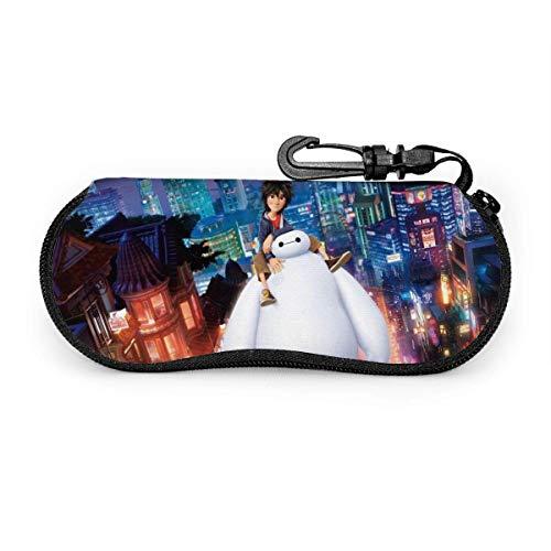 WH-CLA Funda De Gafas Del Sol,Anime Big Hero Bay-Max,Estuche Unisex Para Gafas,Funda De Neopreno Con Cremallera Gafas,Estuche Portátil Para Las Gafas