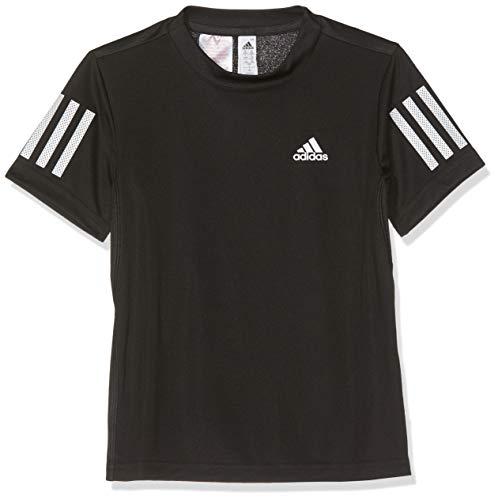 adidas B Club 3STR Tee T-Shirt Garçon Black/White FR: S (Taille Fabricant: 7-8Y)