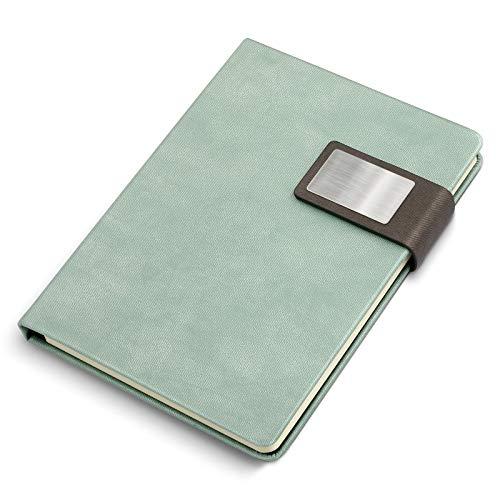 KKDragon Notitieboek A5 Kladblok Ruled Papier 120 Vellen (240 Pagina's) Hard Cover met Doek Textuur PU Groen