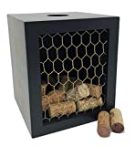 Napa Gift Store Wine Cork Shadow Box & Display Case with Chicken Wire - Holds Over 60 Corks - 7' x 6' x 6' - Cork Holder, Wine Decor for Home & Kitchen