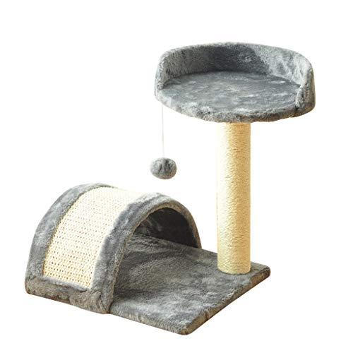 AIOEJP kattenbomen en deuren met sisal-krabomen pluche kattenmeubel kattenbed activiteit slijtvast en krasbestendig duurzaam, zodat katten kunnen opvangen