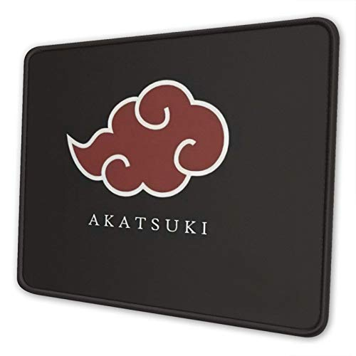 Anime Naruto Akatsuki Cloud Gaming Mouse Pad with Stitched Edge Gamer Mouse Mat Non-Slip Rubber Mousepad for Computer Laptop Office Desk 10 x 12 Inch