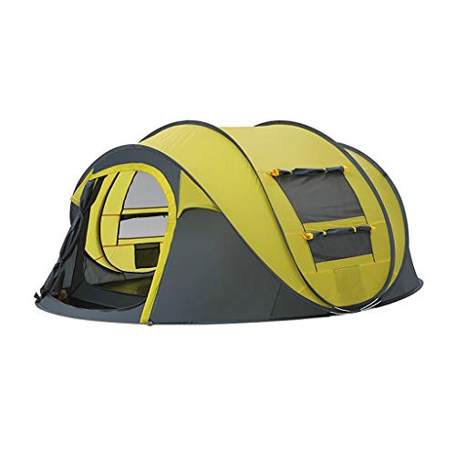 WGYDREAM Tent for Camping 2-3 Person Family Outdoor Pop Up Tent Automatic Instant Tent Two Doors Portable Tents for Hiking Mountaineering (Color : Yellow)