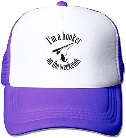 Im A Hooker On The Weekend Atletische baseballpet voor heren getailleerd Trucker Mesh Hoed verstelbare golfcaps