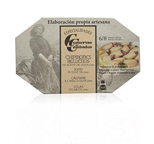 Conservas de Cambados Ganzer Tintenfisch in Olivenöl, 1er Pack