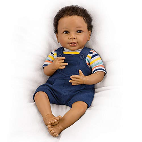 The Ashton - Drake Galleries 'Just Too Cute Jackson' So Truly Real® Baby Boy Doll –A reborn and lifelike baby doll features RealTouch® vinyl skin and hand-rooted hair. Weighted for realism