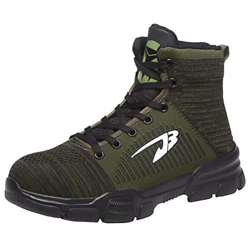 Calzado de Trabajo Hombre Punta de Acero Protección Zapatos de Seguridad Mujer...
