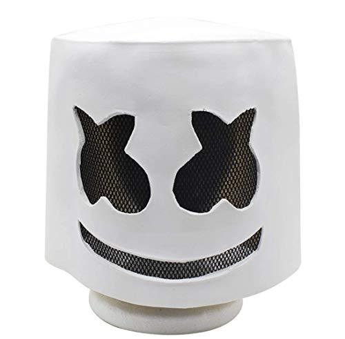 JXJ Latex Masker Voor Halloween, Elektronisch Sound Festival Marshmallow Dj Masker Voor Halloween Kostuum Partij En Masquerade