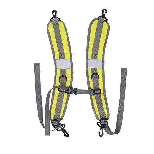 1 paio in nylon resistente e impermeabile zaino spalla regolabile cinghie cintura di riparazione parti di ricambio tracolla, Yellow