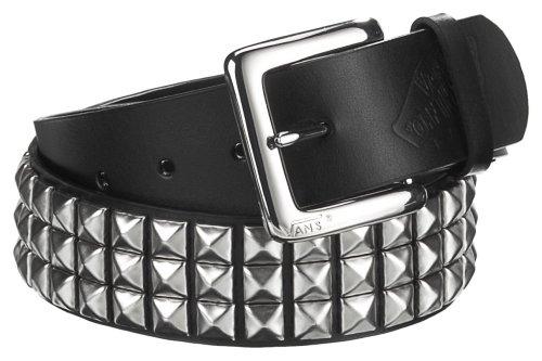 Vans Ledergürtel Studded Leather Belt, Black/Silver, M