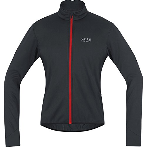 Gore Bike Wear, Chaqueta de Ciclismo en Carretera, Hombre, Windstopper Soft Shell, Power 2.0 Jacket, Talla L, Rojo/Negro, JWPOSO