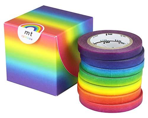 カモ井加工紙 マスキングテープ mt レインボーテープ 6mm×10m 7巻