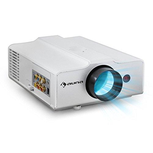 Klarstein LED-6 LED -Projektor (VGA , Kontrast 300:1, 1024 x 768 Pixel, 1300 ANSI Lumen, HDMI) weiß