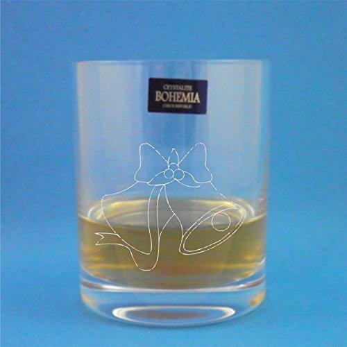 Bohemia Crystal Whisky glas met kerstballen ontwerp en geschenkdoos
