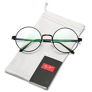 bf9ac8547333 Amazon.com  Full Rim Metal Round Eyeglasses Frame (Large Size) - Gold   Clothing