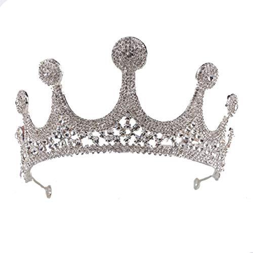 Beaupretty Novia Coronas Tiaras Pedrería Nupcial Reina Tiara Tocados de Cristal para...
